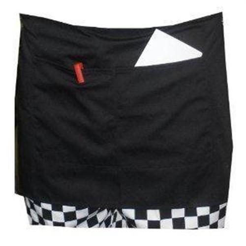 Black Short Apron with a Pocket 103-002