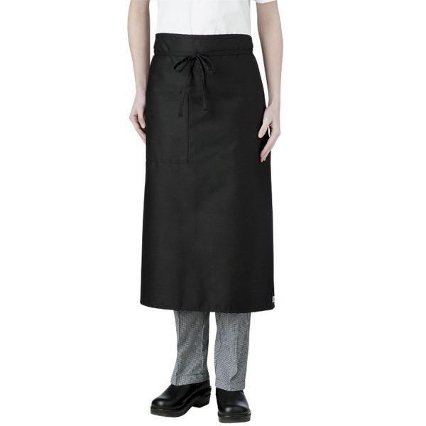 Black Long Waist Apron with pocket