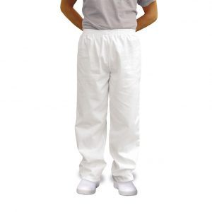 White Baker Trousers