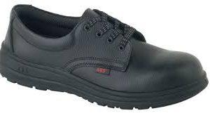 Men's Black Lace-Up Venice Action Leather Shoe - Water Resistant