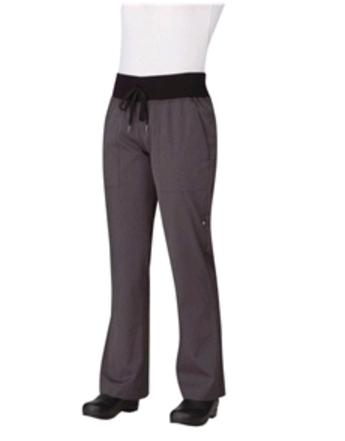 Womens Comfi Chefs Trousers Deep Grey