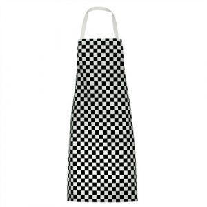 Chefs check bib apron