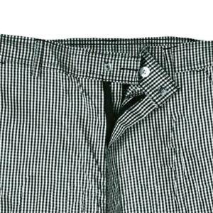 Denny's black check polycotton trousers