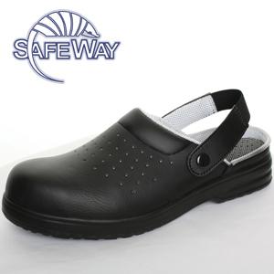 Safeway black safety sandal with heel strap