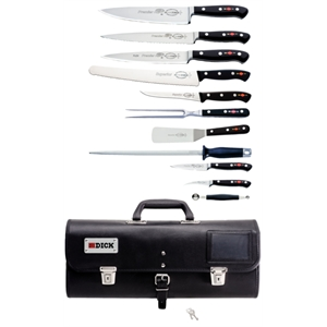 Dick 11 Piece Knife Set With Roll Bag