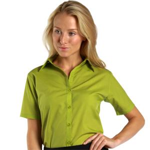 Dennys Short Sleeve Poplin Blouse PR302