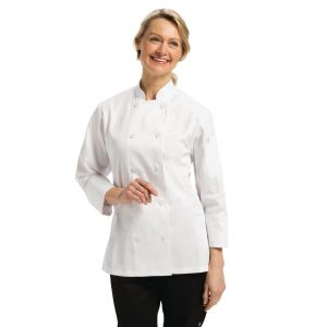 Marbella Womens Executive Chefs Jacket White