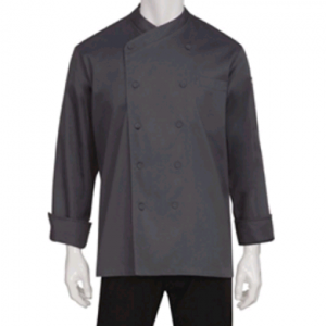 Anguilla Executive Unisex Chef Jacket Charcoal