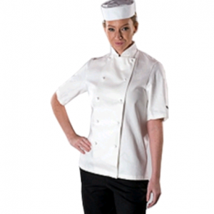 Short Sleeve 100% Cotton Chefs Jacket