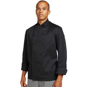 Dennys Slim Fit Chefs Jacket with removable buttons