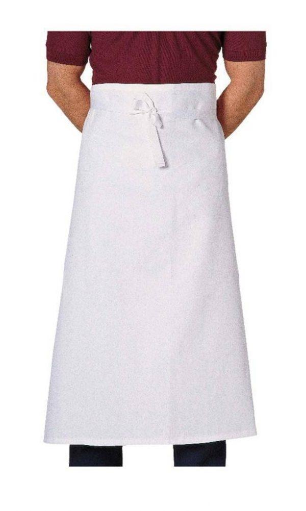 Waist apron in white