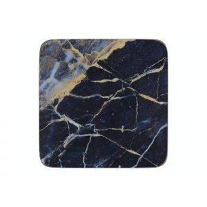 Creative Tops Navy Marble Pack Of 6 Premium Coasters