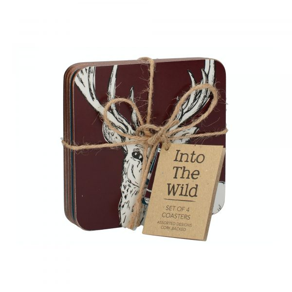 Creative Tops Into The Wild Pack Of 4 Premium Coasters