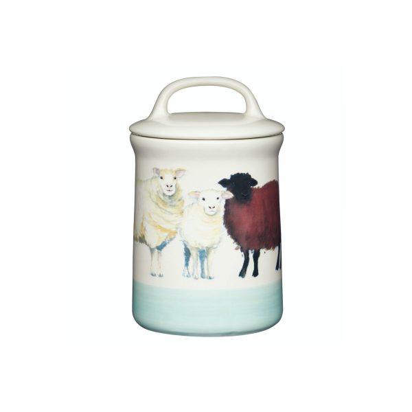 Apple Farm Sheep Coffee Canister Stoneware