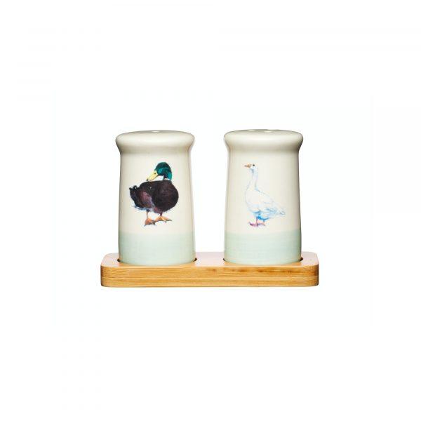 Apple Farm Hand-Finished Stoneware Salt & Pepper Set
