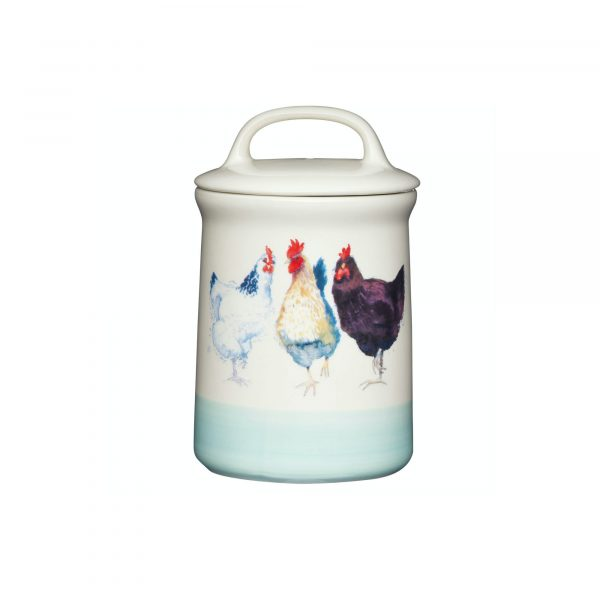 Apple Farm Hen Tea Canister Stoneware