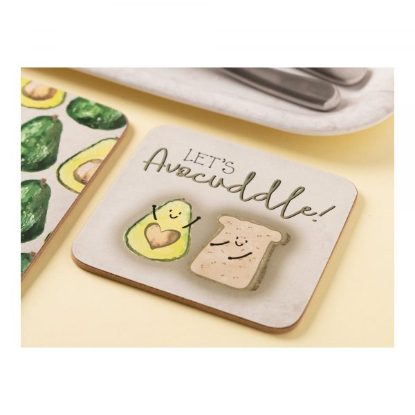 Creative Tops OTT Lets Avocuddle Pack Of 4 Coasters