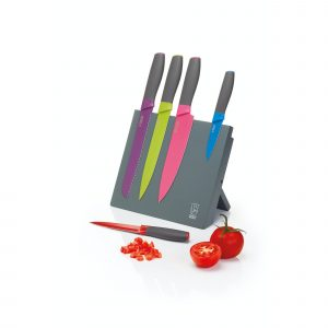Colourworks Brights Five Piece Knife Set with Magnetic Storage Block