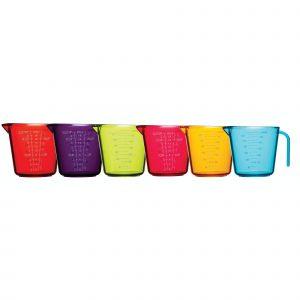 Colourworks Set of 6 Measuring Jugs