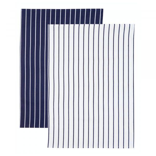 KitchenCraft Butchers Stripe Set of 2 Tea Towels