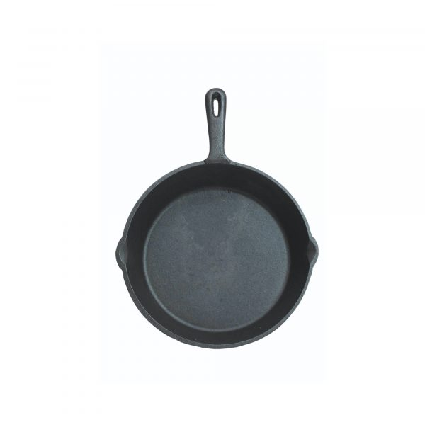 KitchenCraft Deluxe Cast Iron 24cm Round Plain Grill Pan
