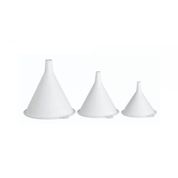 KitchenCraft Set of 3 Polypropylene Food Safe Funnels