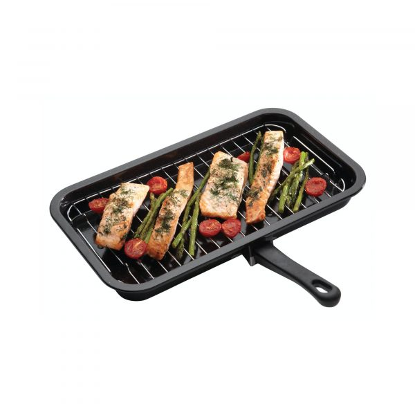 KitchenCraft Enamel 40cm x 23cm Grill Pan