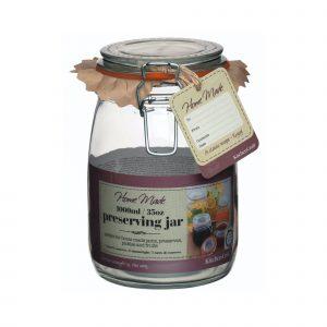 Home Made Glass 1 Litre Preserving Jar