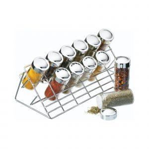 Home Made Chrome Plated Spice Rack Set
