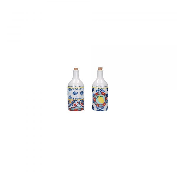 KitchenCraft World of Flavours 500ml Ceramic Oil and Vinegar Bottle Set